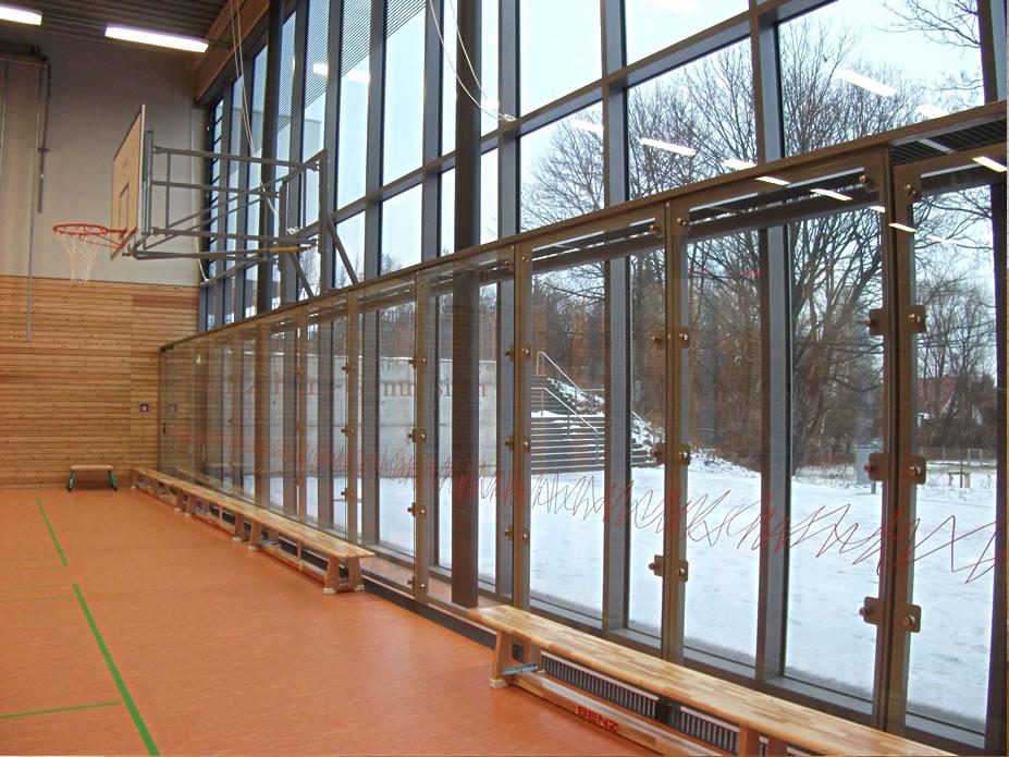 Dresden Sporthalle Innenausbau